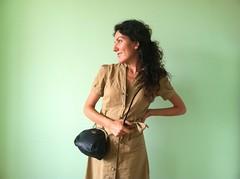 Black Sling Leather Pouch (dobromiraivanova) Tags: shoulderbag hanbag slingbag vintagepurse blackleatherbag meshpurse womenshandbag 80spurse crossbodypurse