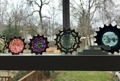 Bike Art 1 (Mr.TinDC) Tags: cogs art sculpture bikeart gears stainedglass resin window
