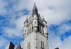 The Town House Spire, Aberdeen, March 2017. The Herald Newspaper Picture of the Day, Friday the 7th April 2017 (allanmaciver) Tags: aberdeen town house spire clock details granite afternoon sun march north east grampian region city council refurbishment civic style arcitecture class silver allanmaciver blue sky weather warm sunny herald published picture newspaper