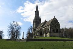 St Mary's Church and Obelisk (Sue Baker 24/7) Tags: obelisk watergardens fountainsabbey studley stmaryschurch church