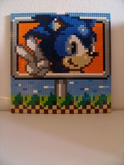 lego sonic (Old School Brick) Tags: lego sonic pixel mozaic sega master system megadrive tails moc