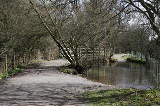 Footbridge & ford - River Meon