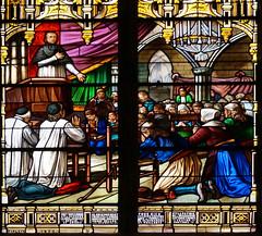 Vitrail, stained glass windows (claude 22) Tags: vitrail stainedglasswindows vitraux art glass windows medieval vidrieras bretagna francia bretaña breizh france geotagged stainedglass claude22 claude22b vitail