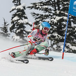 April 16th, 2017 - Noa Szollos of Hungary takes first place in the U14 McKenzie Investments Whistler Cup Womens GS Race - Photo By Rob Perry - coastphoto.com