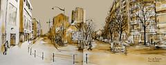 rue de Pyrénées-Stendhal-bassa (C.PARR) Tags: art aquarelle watercolor paris urban sketch sketching