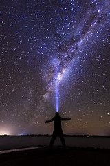 discovery (Indigo Skies Photography) Tags: milkyway galaxy galacticcentre stars southernsky southernhemisphere universe sky lake rural landscape nightsky nikond610 sigma15mmf28exdg person water red nature blue night white tree green art light clouds autumn river pink orange