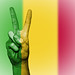 Peace Symbol with National Flag of Mali