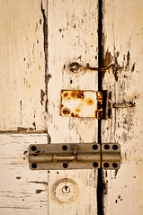 Witness Protection (hutchphotography2020) Tags: door lock olddoor rustylocks latch bolt hinge keyhole nikon hutchphotography