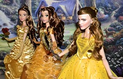 Different Shades Of Belle - Beauty and The Beast Limited Edition Dolls (The Fairytale land Of Ariel Triton) Tags: belle beauty beast live action movie limited edition doll disney store le 500 5000 collector 2010 2016 2017 emma watson 17inches platinum set yellow dress gown collection all designer fairytale disneyprincess hermione disneyland winterbelle disneydoll limitededition 17 waltdisney disneydress strass glitter gold curlyhair curls fairytalelandofarieltriton ariel cinderella jasmine tiana moana pocahontas mulan tangled snow white aurora anna elsa frozen le500 rare