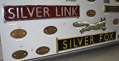 Nameplates of LNER Gresley Class A4s 2509 and 2512 (colin9007) Tags: york nrm national railway museum locomotive nameplate lner gresley class a4 462 silver link fox 2509 2512 60014 60017