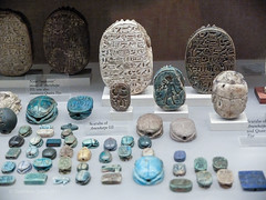 "Ancient History Project: Scarab Artifacts at the Met Museum in NYC (Stephanie ""Biffybeans"" Smith) Tags: stephaniesmith stephsmith art artist biffybeans blogger mandala tedxspeaker writer fountainpen ink moleskine rhoda paperblanks journals paper writing sketching shredded destroy transform recycling upcycling recycledpaper papermaking pulp metmuseum ancientegypt scarab exhibition display artifact relic gold golden arrangement collage mosaic jadepva goldenacrylicpaint bananafactory artstudio residentartist southbethlehem sacredart visionaryart meditation expressiveart spirituality"
