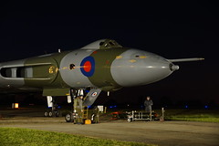Bombing up (gooey_lewy) Tags: vulcan twilight delta rolls royce olympus bomber v force xl426 southend airport restoration trust phone grab tle timeline time line events charter shoot plane aircraft jet royal air nuclear deterrent sun set crew silhouette sky orange we177 drill round thermonuclear bomb