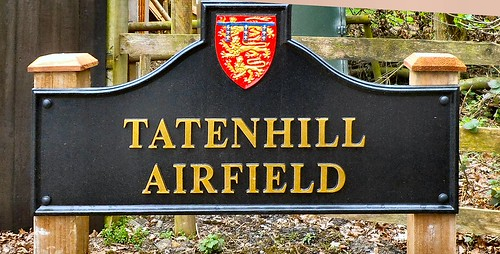 Our posh new airfield sign