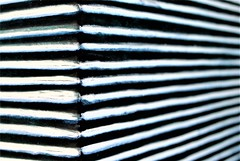 Glazebra for Macro Mondays (flowergirlaaa (busy bee, catching up)) Tags: glaze macromondays hmm macro vase container pottery ceramic stripes 7daysofshooting week42 leadinglines macromonday