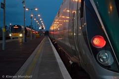 22039 arrives at Newbridge, 16/3/17 (hurricanemk1c) Tags: newbridge railways railway train trains irish rail irishrail iarnród éireann iarnródéireann 2017 22000 rotem icr rok 5pce premierclass 22015 4pce 22039