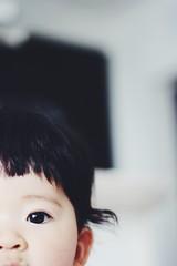 ぱっつん (シュナイダー小林) Tags: 食事中 女の子 赤ちゃん 口周り たまねぎ 子供 髪 髪の毛 ぱっつん