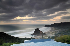 Piha Beach & Lion Rock (angus clyne) Tags: piha beach lion rock sand surf new zealand nz