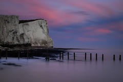 White cliffs and sea defences (Christopher Restall) Tags: white cliffs seascape seadefences whitecliffs england sussex water landscape landscapephotography groynes groyne beach sea sunset long longexposure exposure nikon d5500 10stop ndfilter nd