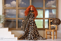 the wild new dress (photos4dreams) Tags: thegirls13042017p4d glamourgirlsp4d thelookcityshinep4d barbie regularlifeinthedollhouse doll photos4dreams p4d photos4dreamz toy puppe dress mattel barbies girl play fashion fashionistas outfit kleider mode puppenstube tabletopphotography viviane