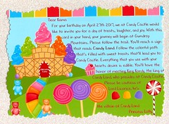 Candy Land Invitation (Hobbycorner) Tags: creative card birthday invitation cards creativity candyland candy glitter cardstock craft crafting crafts project projects hobby scrapbook scrapbooking loctite