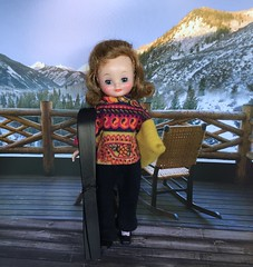 At the Ski Lodge (Foxy Belle) Tags: betsy mccall doll light brown flip ski winter weekend snow diorama
