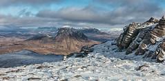 Snow Capped Assynt (macdad1948) Tags: scotland snow highlands ullapool stacpollaidh coigach sgurranfhidheir thefeather mountains ice assynt suilven quinag ben mor