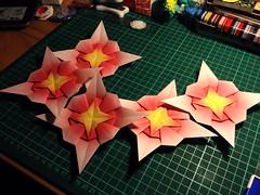 Estrellas complejas, Quilts, Tomoko Fuse (Liralyra) Tags: origamiquilts tomokofuse origamistars origami