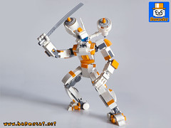 MECHANGEL 02 (baronsat) Tags: lego mecha robot model custom moc japan new armored battle mech figure toy scifi military war meka anime samurai japanese exo sword gun cannon future space armor machine piloted walker vintage tv hobby