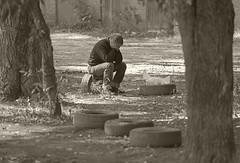 men (АндрейНовиков1) Tags: canon eos 5d mark ii ef70200mm f28l usm whiteandblack street life russia vyatka men