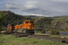 H-SPOLAU1-22A (THE Woodtick) Tags: bnsf exnorthernpacific montana montanaraillink sd70ace springdale freight railroad train beartooth yellowstone river emd