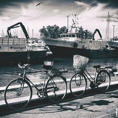 #BIKE2PESCHERECCI #Cesenatico quad bike2 IMG_8569 bn_resizeA (Viabici(c) di St.Renzi) Tags: viabici bike2 bicicletta bici bike bicycle cykel fahrrad street città city mono bw italia cesenatico