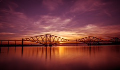 sunset at the bridges (peterbaird100) Tags: forth bridges sunset