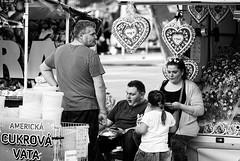 Stallholders - Meyer-Optik Goerlitz Orestor 135mm f2,8 (petrwag) Tags: manuallens meyeroptikgoerlitz bw blackandwhite blancoynegro blackwhite amusement prague praha photographing černobílé czech clickcamera noiretblanc noirblanc street