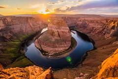 IMG_0395 (ghostbaum) Tags: sunset horseshoe bend horseshoebend grand canyon cliff view page arizona navajo