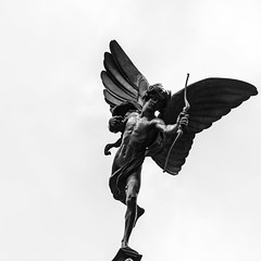 London   |   Eros (JB_1984) Tags: eros statue bronze monument landmark blackandwhite bw mono squareformat piccadillycircus cityofwestminster london england uk unitedkingdom
