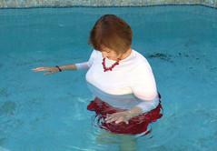 Anniversary skirt swim, 2017 (clarkfred33) Tags: pool water wade swim wetadventure wetfun anniversary wetjewelry wetclothes wetwoman senior senioradventure swimmingpool funlady wetlook