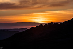 Sunset Over the Roaches from Ramshaw Rocks 1 #Sunset #Roaches #Mountain #Cragg #Landscape (tonymorrison.tepd) Tags: rock staffordshire landscape derbyshire peakdistrict weather type sunsetsunrise theroachesnrleeke moor rockyoutcrop canon5ds camera year 2017 sun england uk places
