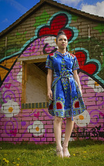 eleanor 3 (siena2012) Tags: contrast colour color fashion editorial african portraits portraiture photoshoot pink blue chicken outdoors dress