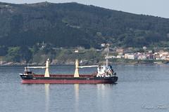Barco y Fisterra (César Fraile) Tags: carguero españa fisterra galicia spain