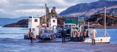Isle Of Skye Ferry (M C Smith) Tags: ferry water island hills sea boat people cars lorry truck landing ruins