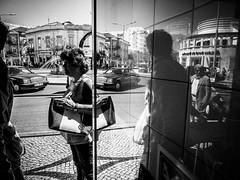 Reflection (Vitor Pina) Tags: algarve fotografia photography street scenes streetphotography streets shadows rua reflection momentos moments monochrome man men people pretoebranco pessoas light urban urbano