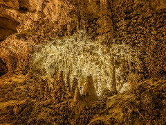 Formations, Big Room, Carlsbad Caverns National Park, New Mexico (Cwep) Tags: rockformations newmexico artificiallighting landscape cave stalactite stalagmite speleothem thebigroom 2014 location carlsbadcavernsnationalpark usa light