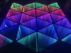 Infinity test (RobotSkirts) Tags: led lighting infinitymirror mirror twobitcircus rgb apa102 pixelpusher ledlab processing