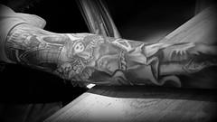 I get it. (Papa Razzi1) Tags: 9052 2017 112365 igetit inkjob tattoo arm sleeve angel full xperiax bw