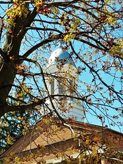 I LOVE HOW THIS CAME OUT (Visual Images1) Tags: montourfalls cityhall dome tree sky blue