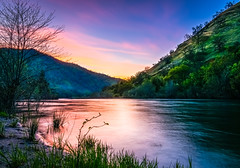 Kings River sunset (DF Shryock) Tags: sunset kingsriver river longexposure light landscape water stream sierranationalforest california purple