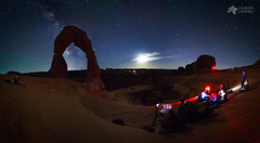 Seclusion At Delicate Arch (Mike Berenson - Colorado Captures) Tags: allrightsreserved arches archesnationalpark copyright2016bymikeberenson delicate delicatearch nature night stars utah water workshop moab unitedstates us