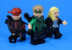 Team Arrow (MrKjito) Tags: lego minifig super hero comic comics green arrow oliver queen arsenal roy harper black canary dinah lance team archer bow star city