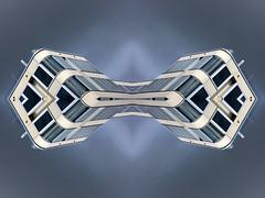 Dumbbel (Ed Sax) Tags: hantel edsax art kunst kunstphotographie photokunst photoart madeingermany blau grau weis symmetrie abstrakt architektur drumbbel