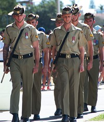 guard arrives (Leonard J Matthews) Tags: guard army australian australia mythoto soldiers diggers memorial honour tribute anzacday 2017